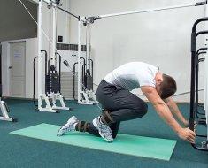 Тренировка при болях в колене