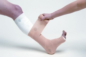 Учимся правильному наложению повязок на голеностоп