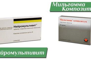 Сравнение медикаментов Нейромультивит и Мильгаммы