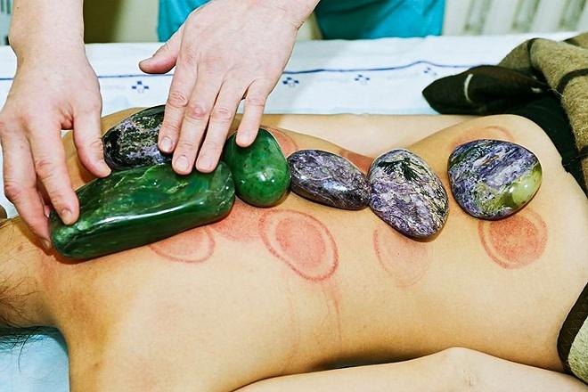 Лечение спины камнями