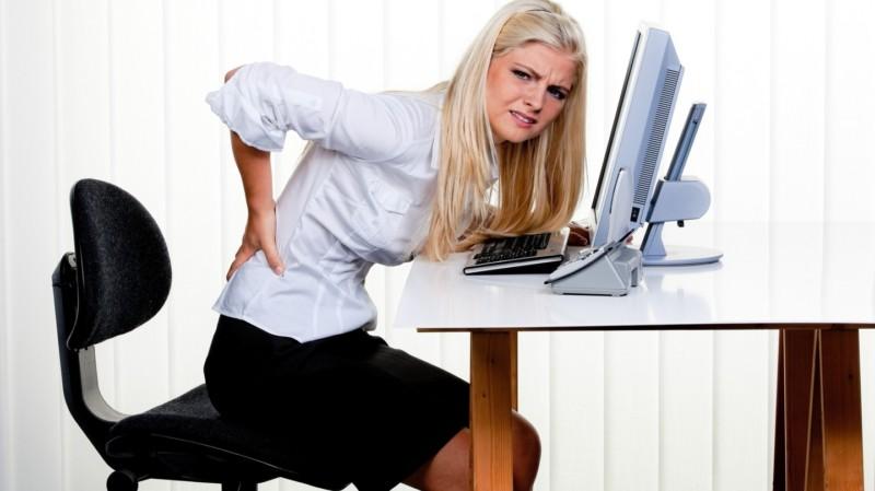 Боли в спине при сидячей работе