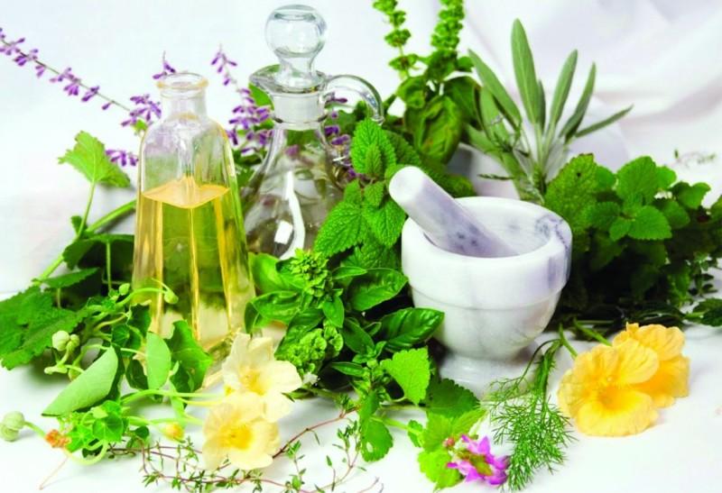 Емкости и целебные травы