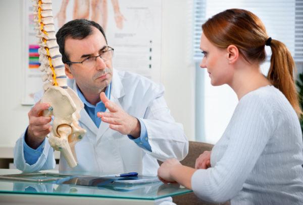Пациент на консультации у врача