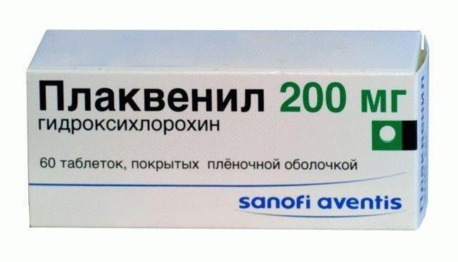 Упаковка таблеток Плаквенил 200 мг
