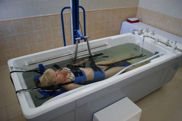Процедура под водой
