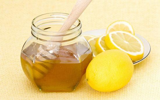 Баночка с медом и лимон