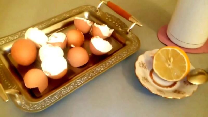 Скорлупа яиц и лимон