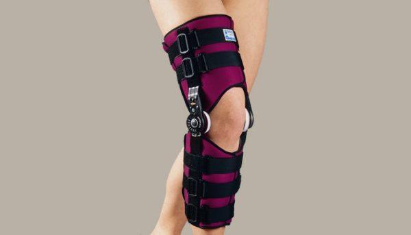 Вид ортеза на ноге